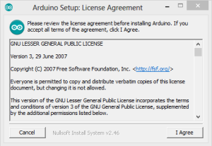 Arduino Setup Agreement