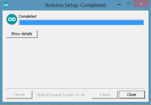 Arduino Setup Completed
