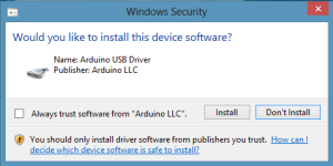 Arduino Windows Security